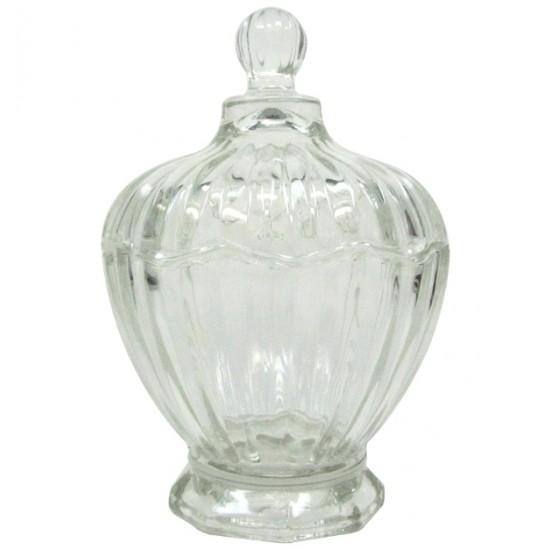 Φοντανιέρα γυάλινη με καπάκι - 14x9,5cm [00203167]