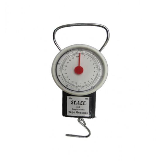 Ζυγαριά αναλογική κρεμαστή 22kg & μετροταινία [00402307]