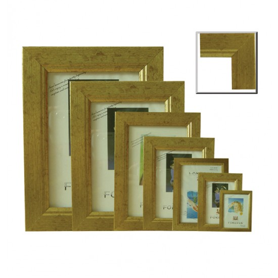 Πλαστική κορνίζα χρυσή επιτραπέζια 25Χ30 [10401054]