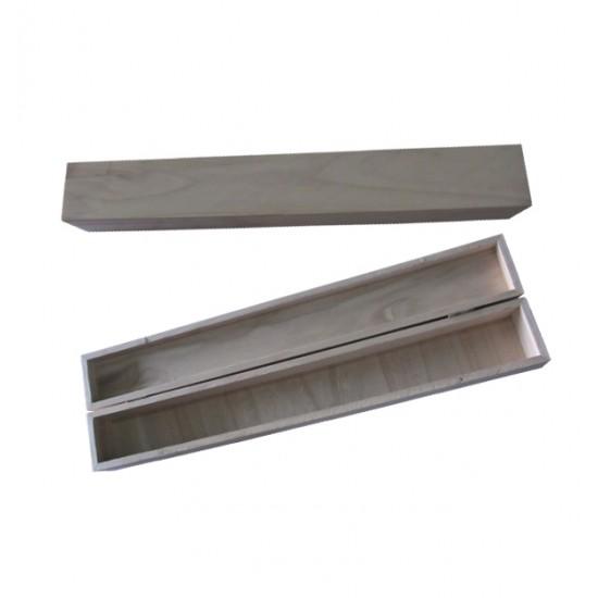 Ξύλινο αλουστράριστο κουτί λαμπάδας - λαμπαδόκουτο [20601247]