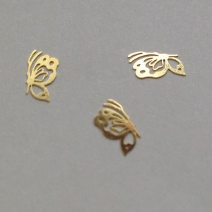 50 διακοσμητικά νυχιών χρυσές πεταλούδες 40502059-22