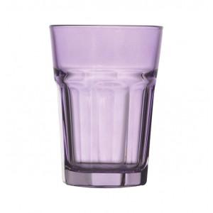 Γυάλινο μωβ ποτήρι νερού 70301012-3