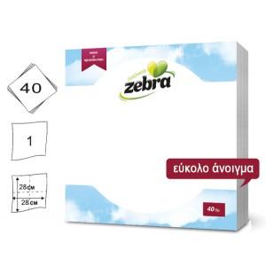 Σετ 40 λευκές χαρτοπετσέτες 28x28cm 70501206