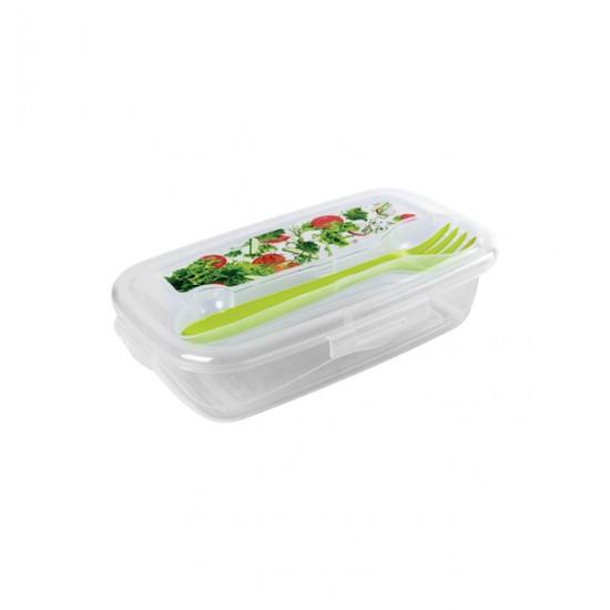 Διάφανο πλαστικό φαγητοδοχείο 0,5lt με μαχαιροπήρουνο [78817968]