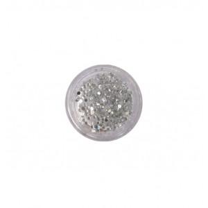 400 ασημί στρας στρογγυλά διαμαντάκια 40502009-1