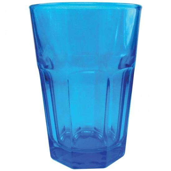 Μπλέ γυάλινο ποτήρι νερού [70301036]