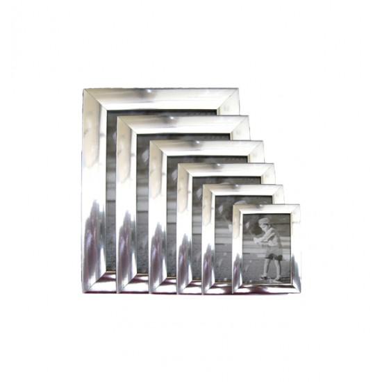 Πλαστική κορνίζα ασημί επιτραπέζια 10x15cm [10401097]