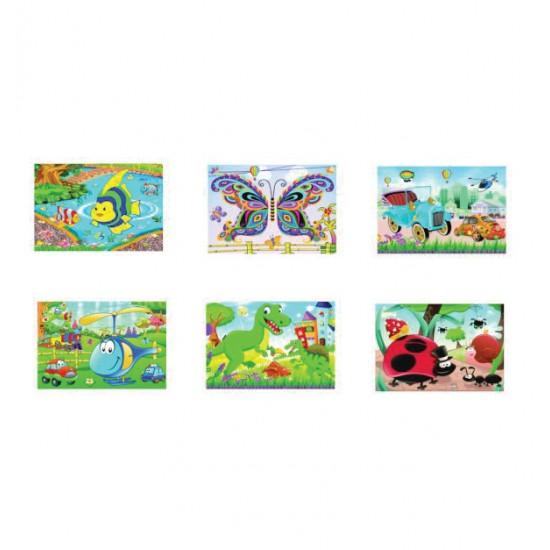 Καρτέλα παζλ με παιδικά αυτοκόλλητα 21x32 cm [10501579]
