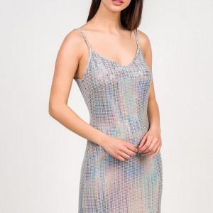 A20 Anel lux μεταλιζέ μινι φόρεμα