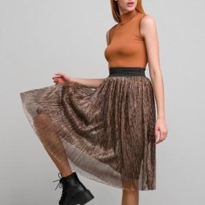 A20 Anel midi φούστα με τούλι μπρονζέ